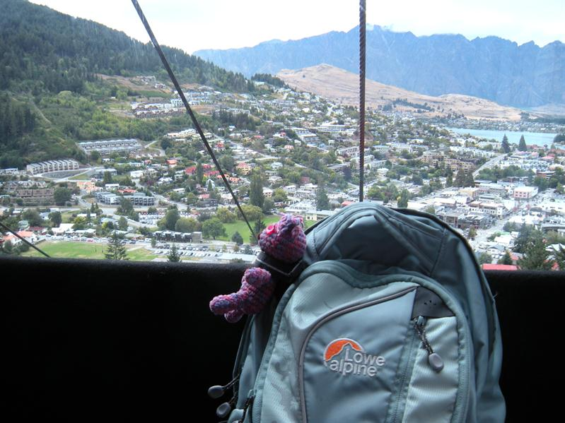 Going up in the Queenstown gondola