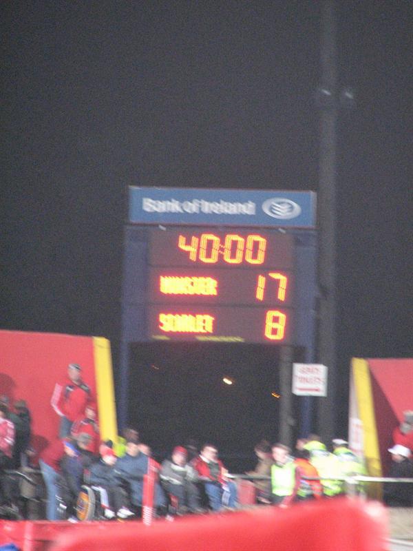 Score at half