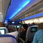 Het vliegtuig van binnen