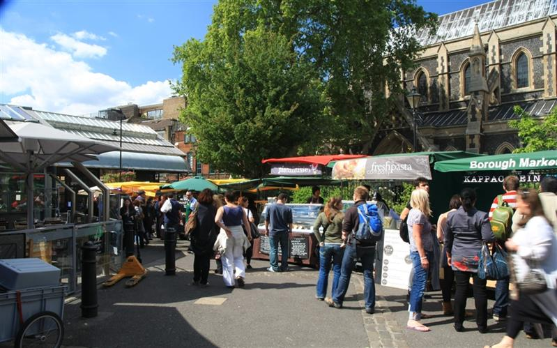 Borough Market, Thames, London, United Kingdom