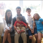 Gionna with her cousins, Matthew, Nick, Mary & Baby Theo