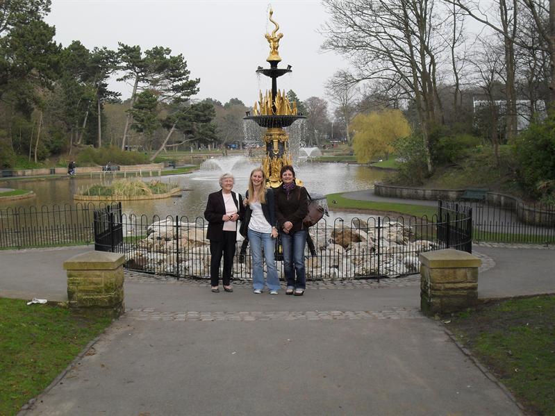 Mum, Rebecca and Grandma at Hesketh Park