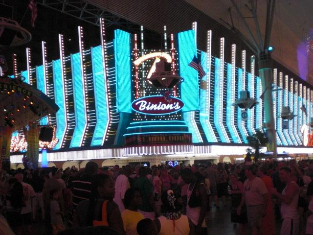 Binion's. WELCOME BOWLERS!! signs all over the place in there.