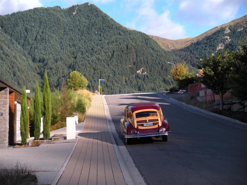 A hearse on wheels at Queenstown