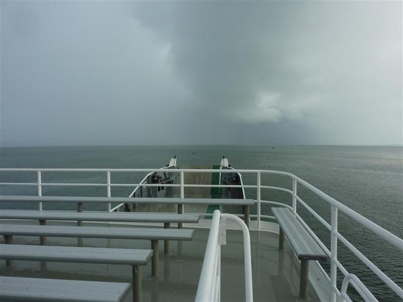 The storm we were heading for travelling off Fraser Island