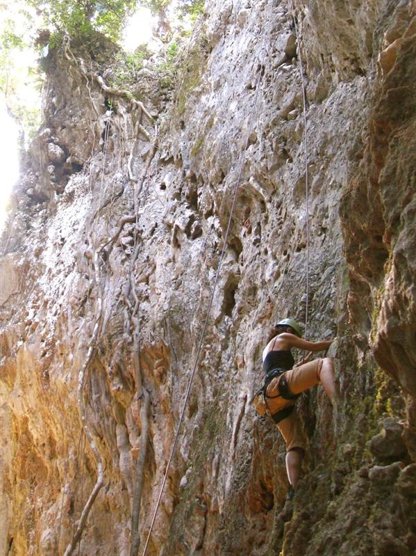 Rock climbing in the canyons