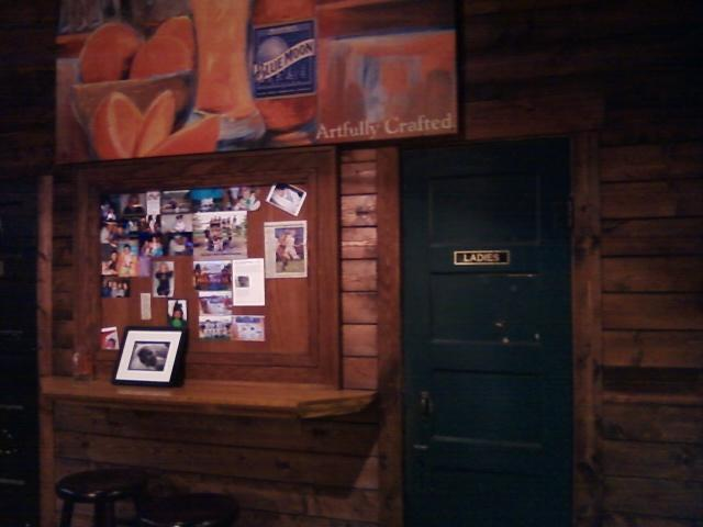 a view of the ladies restroom