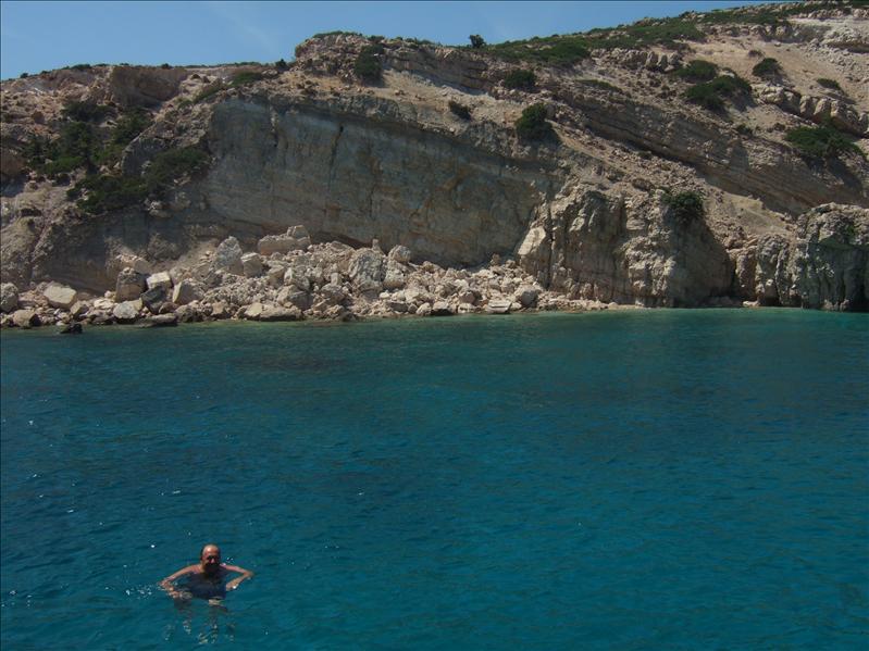 Three Islands Cruise - Anchored at Plati for a Swim