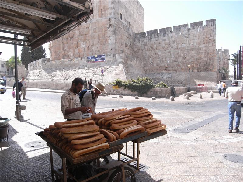 tower of david in the background