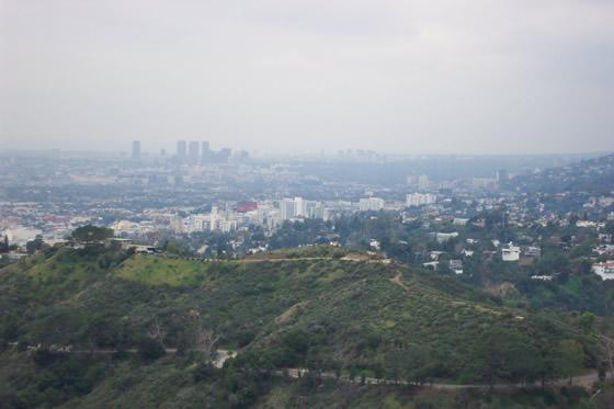 los angeles from park