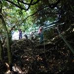越過欄杆接祕徑探索軍事堡壘遺蹟