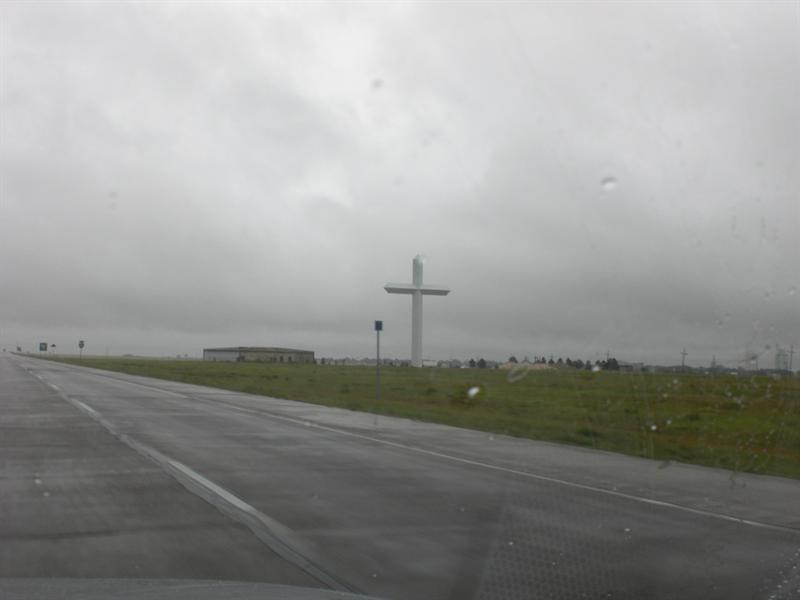Giant cross in TX.  Saw another in OH