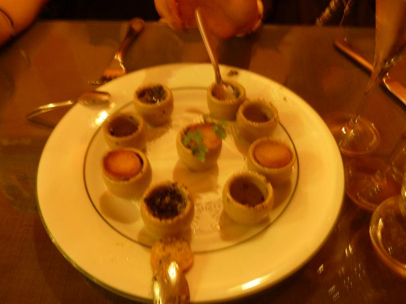 Escargots....yummmmy! La Table Anna, Reims, Champagne, France (10/9)