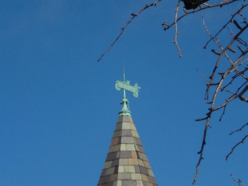 Weather vane atop Museum