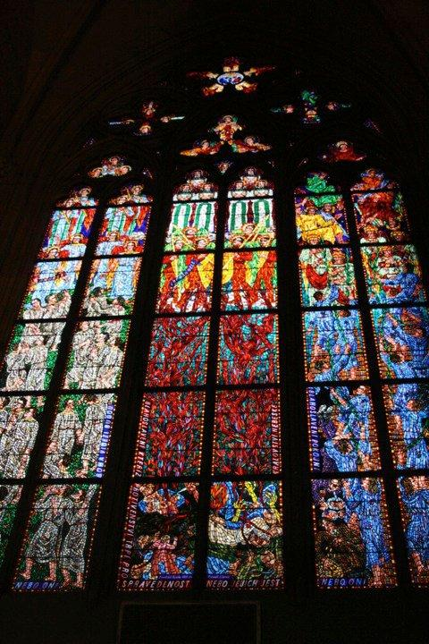 Love the stained glasses St. Vitus Cathedral!