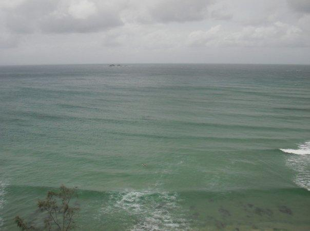 And we saw loads of dolphins in Byron Bay....look really hard!!!