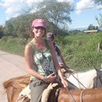 Salta - Burt being a Gaucho for the day... Horseback riding through the Argentinian mountains for hours....