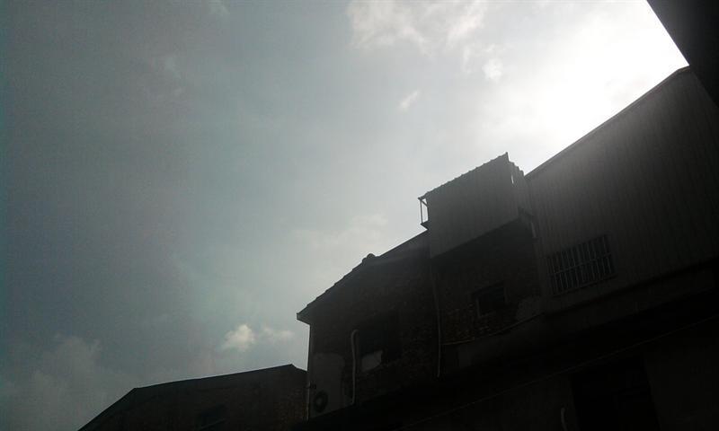 颱風來的時候~~~我們那天氣啊~也怪了!!!