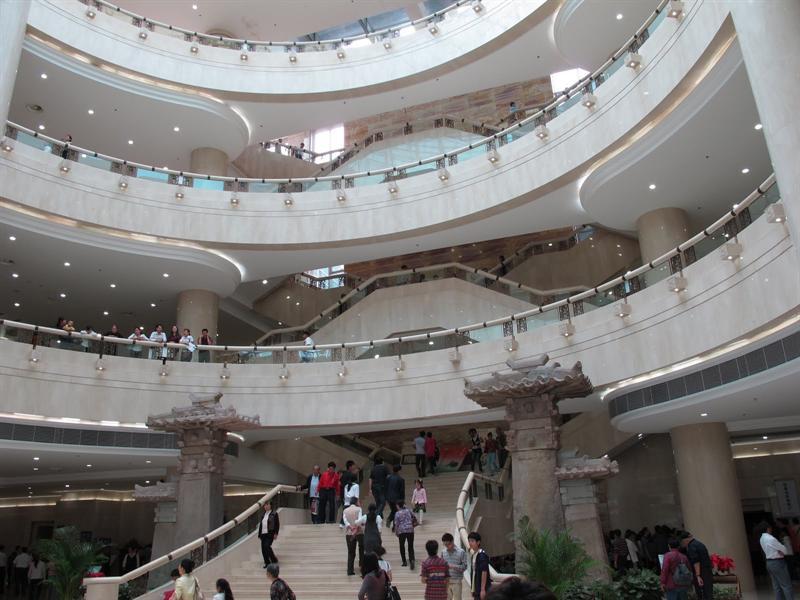 inside of the Chongqing Museum .