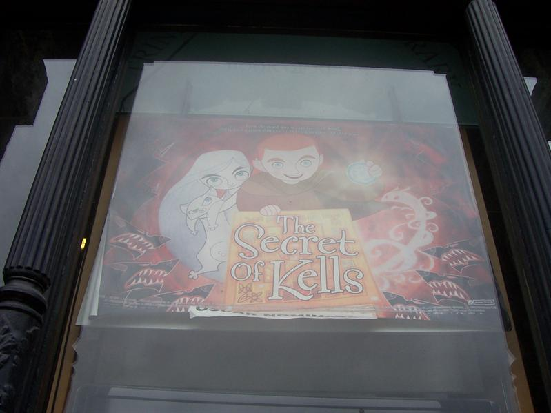 The Secret of Kells, about the book on display at Trinity College, was nominated for an Oscar last year. I couldn't take pictures inside the library :(