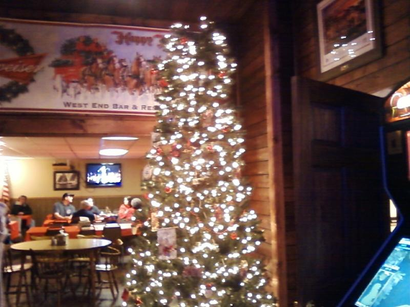 Christmas inside West End Tavern