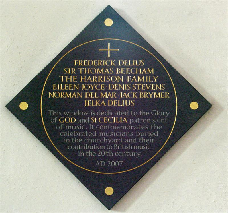 Plaque by the Musicians' Window