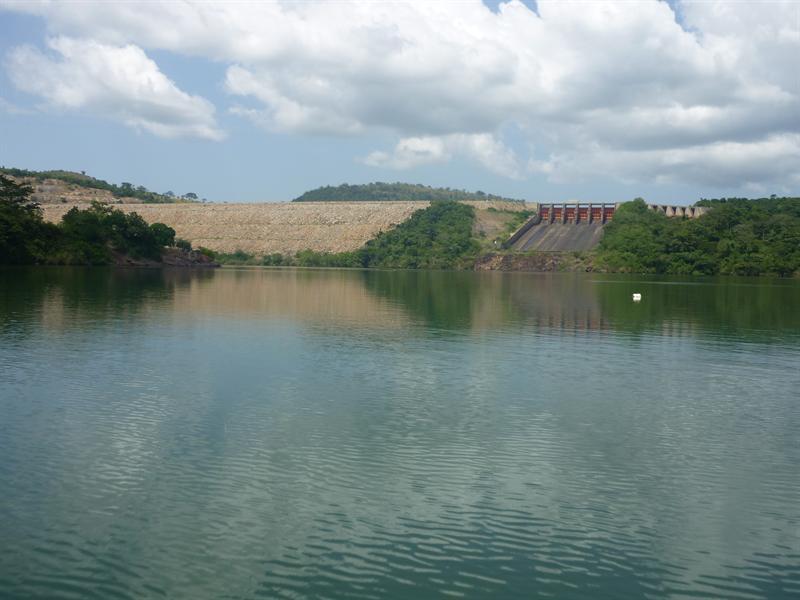 Akosombo - der Staudamm - Blick vom Volta