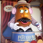 Mr. Potato head at toy story ride