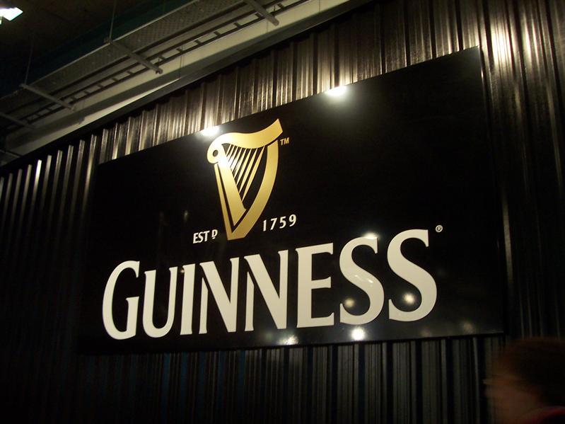 In the Guinness Storehouse.