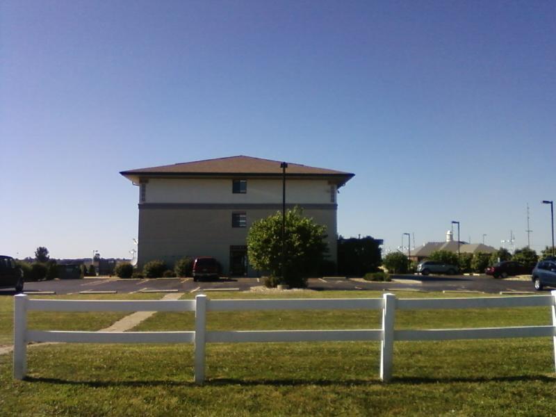 next door is a Super 8 motel