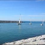 ... alongside the harbour....