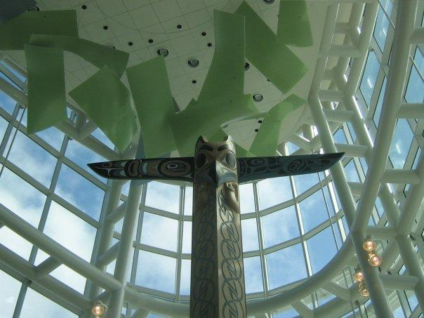 the totem in the airport...