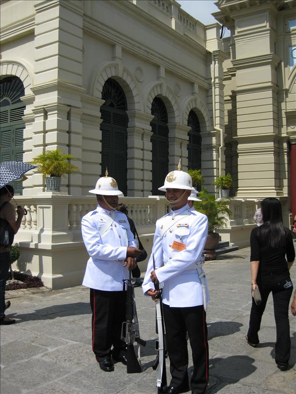 Guards in front of the Grand Palace