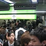 上班時間地鐵擠滿人