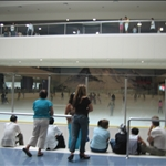 Ice-skating rink in the mall