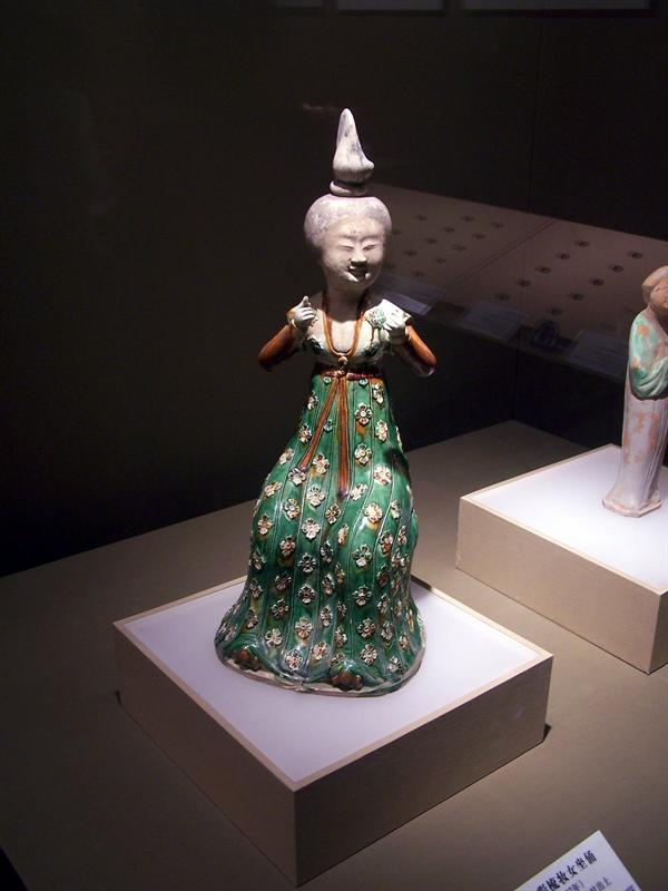 Colored lady figure, Shannxi History Museum