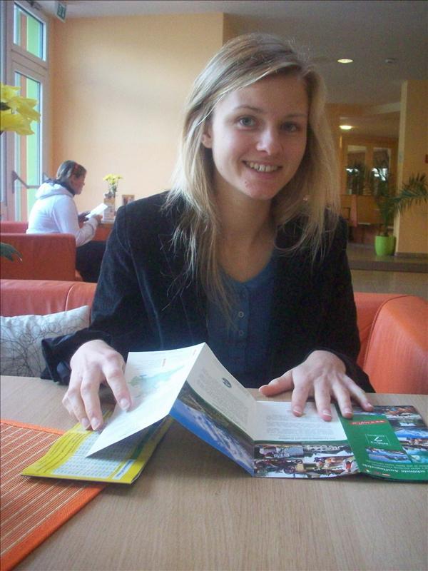 Jess in the Jugo Hostel, it was huge!