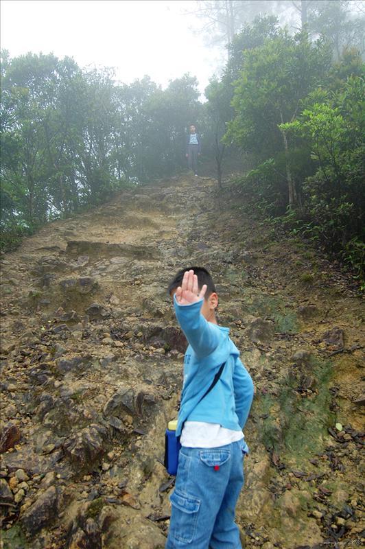 登雞公山途中