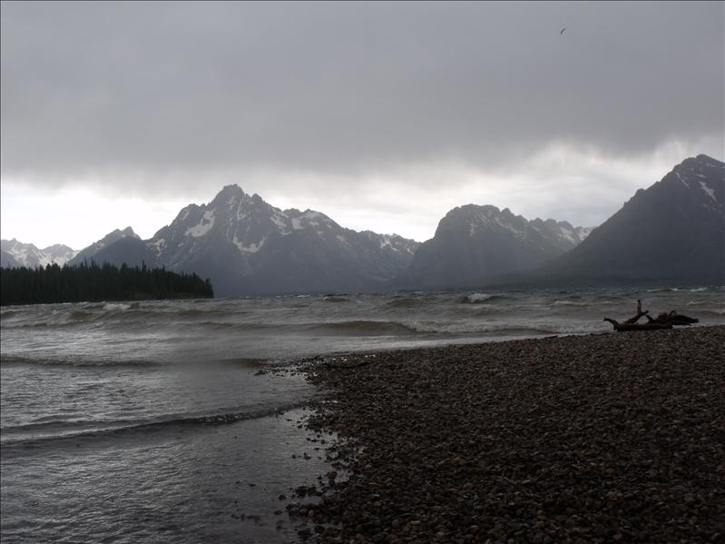 One of the storms that came by. Jackson Lake