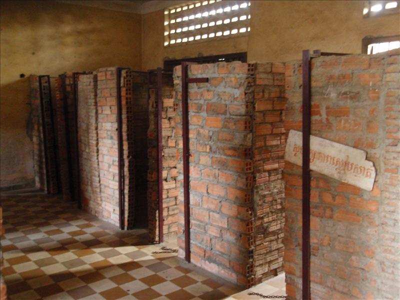 Solitary confinement cells at S-21 Tuel Sleng prison