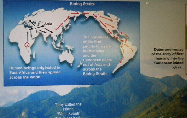 The Caribs in Dominica were warned that men with shinny heads and gleaming sticks in the hands were not to be trusted and would rape the women and kill the men.