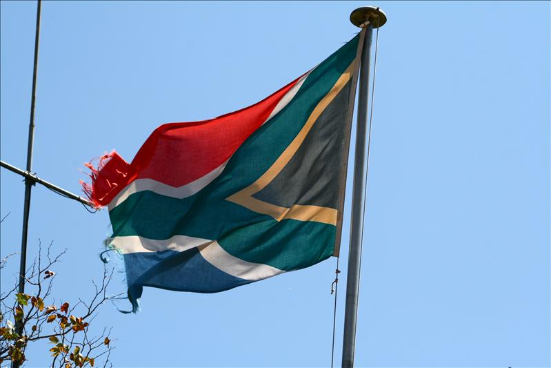 South African flag / drapeaux sud-africain