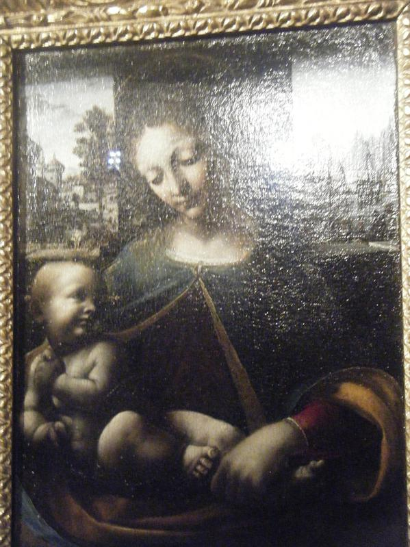 painting by davinci--madonna and child
