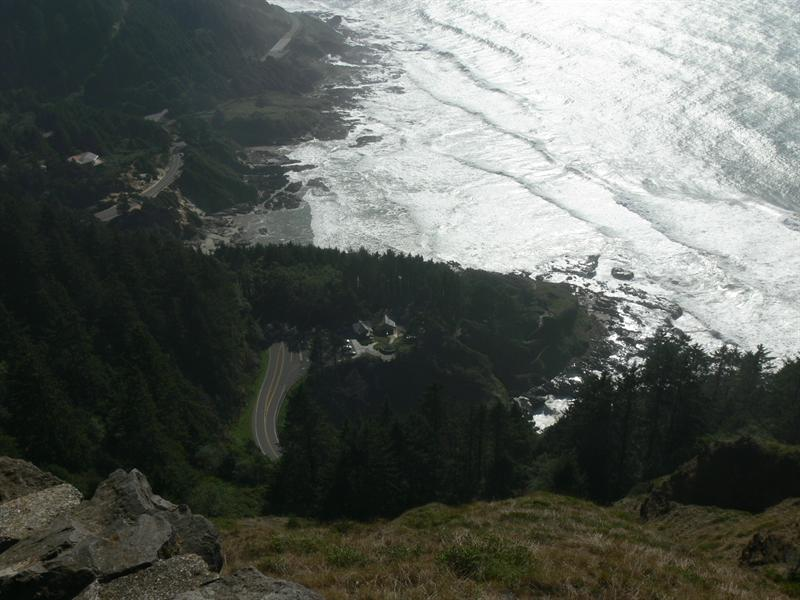 Cape Perpetua...800' above the coast
