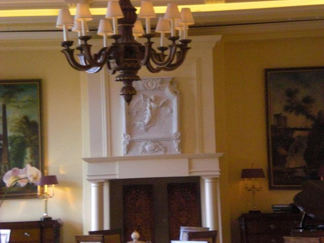 FIREPLACE in lobby @ Ritz