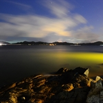 20120902 岩岸、晚霞、夜空