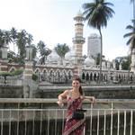 Widok w KL. Wierzowce, palmy, meczet....