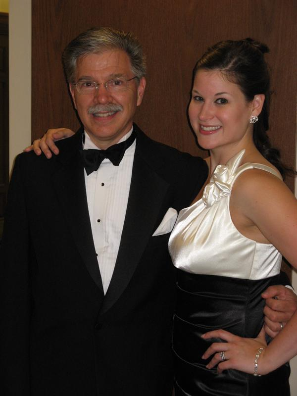 Jeff and me after my fundraising recital