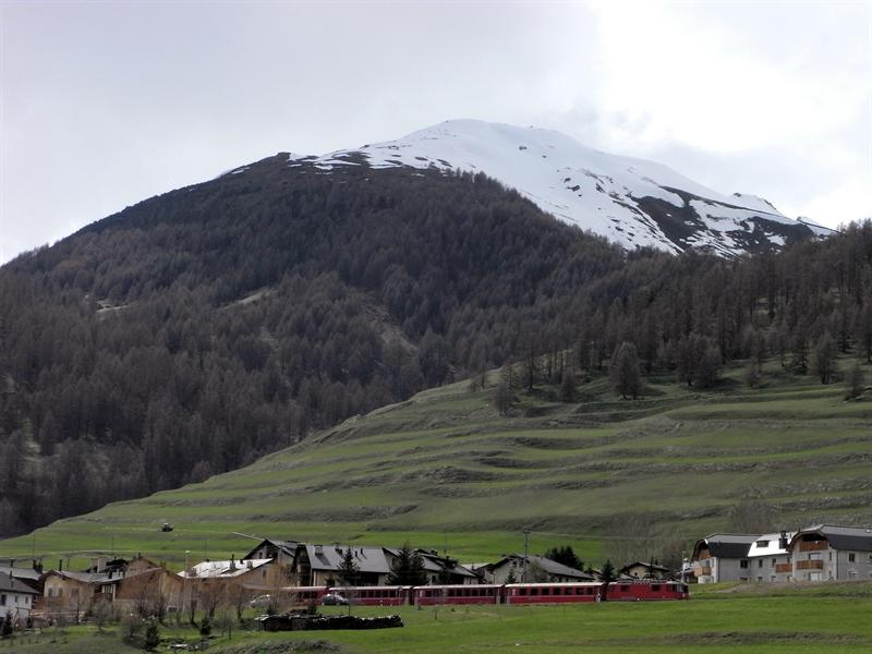 a train in the valley