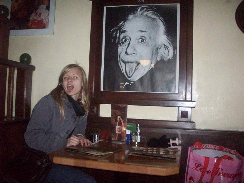 Einstein Cafe! I had the best Macciato ever!